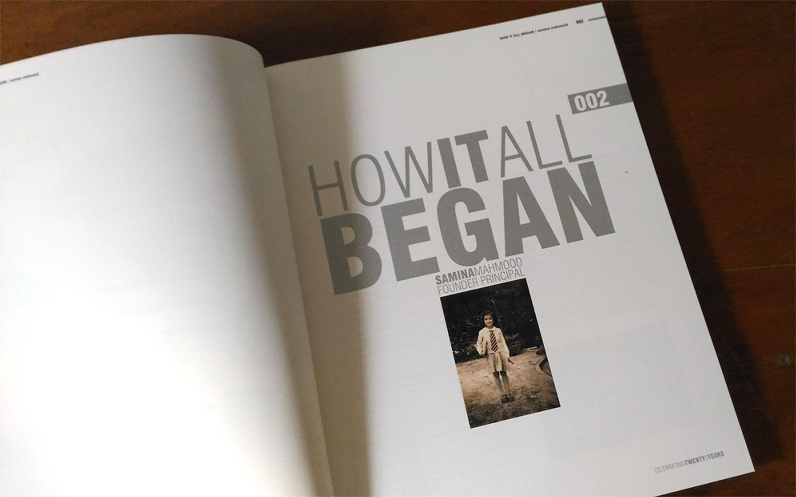 Head Start Montessori House of Children, book celebrating 25 years. Chapter spread.