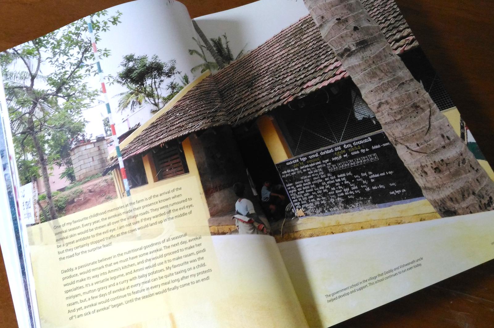 My Mother, T Krishna Kumari, book design. Page spread.